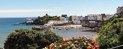 Large Big Panoramic Print Cardiff Bay Tenby Merthyr Clifton Mumbles Aberdare UK