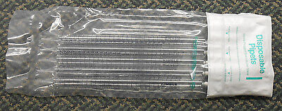 PACK OF 5 KIMBLE 25mL 2/10 STERILE PLUGGED BOROSILICATE GLASS  DISPOSABLE PIPETS