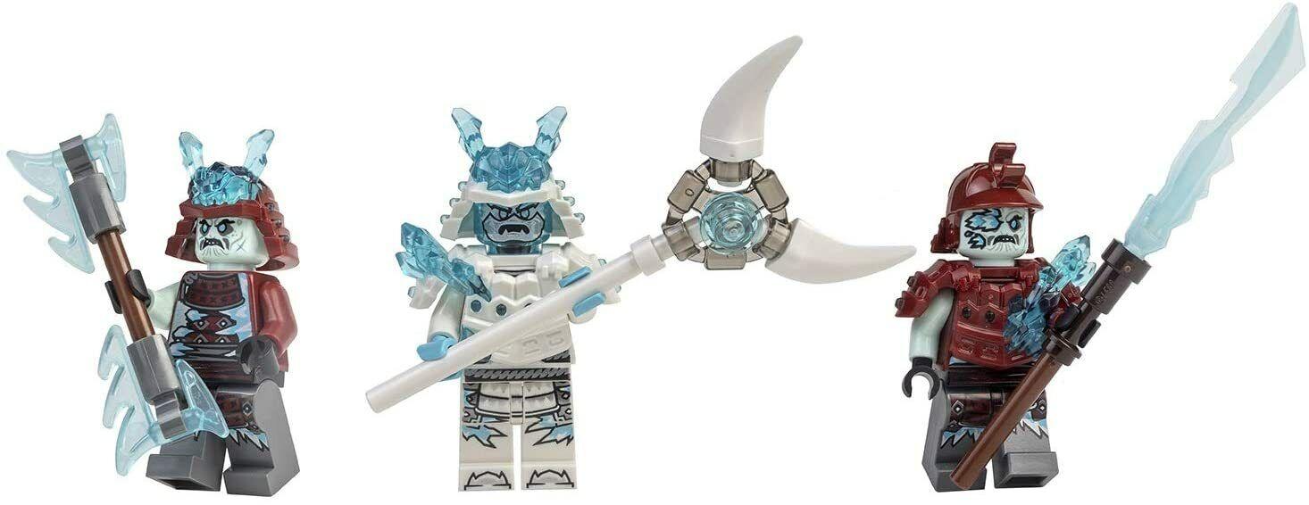 LEGO® Ninjago™ Minifigure Silver Zane Titanium 2 Gold Sai Weapons 70748