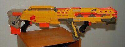 Nerf N-Strike Yellow Longshot CS-6 w/ front barrel & 2 Clips FREE SHIPPING