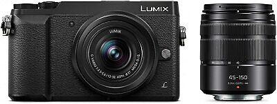 Panasonic LUMIX GX85 4K Mirrorless Camera with 12-32mm & 45-150mm Lenses Black