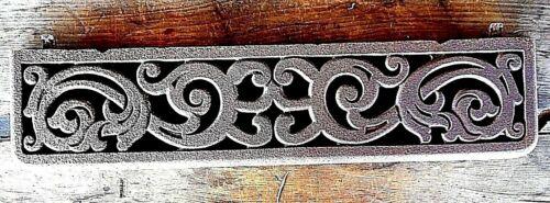 "Ornate Antique Cast Iron Architectural Salvage Pediment Farmhouse Rustic 25.5"""