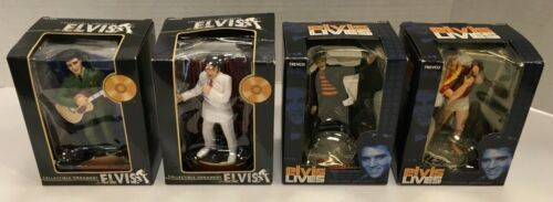 LOT OF 4 ELVIS PRESLEY TREVCO CHRISTMAS ORNAMENTS NEW IN BOX FREE SHIPPING!