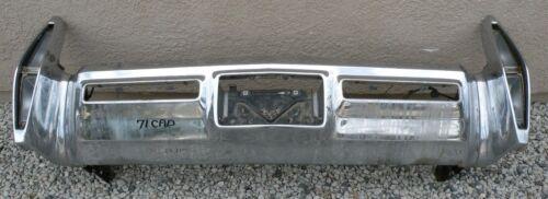 X Cadillac New Triple Plated Chrome Rear Back Bumper 1971 71 Oem