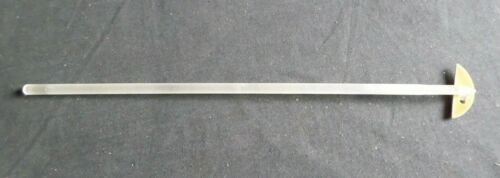 Ace Glass Solid Glass Button Type Ground Stirring Shaft, 432mm x 10mm, 9534