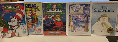 Kids Christmas Movies DVD Lot Cat in the Hat, Octonauts, and More NEW