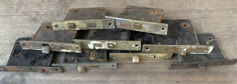 Lot Of 9 Early Antique Higher security Door Mortise Lock All Original