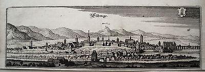 Eschwege Hessen seltener echter  alter  Merian Kupferstich 1646