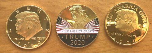 President Donald Trump Challenge Coin - Set of 3  (GLJ 2)