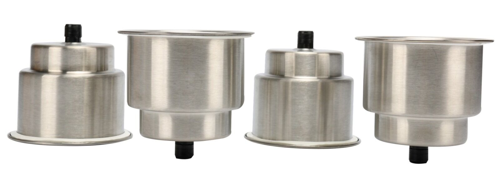 4pcs Stainless Steel Cup Drink Holders with Drain for Marine Boat RV Camper -EFP