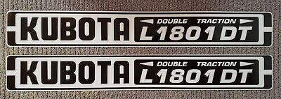Kubota L1801dt Reproduction Hood Decal Set