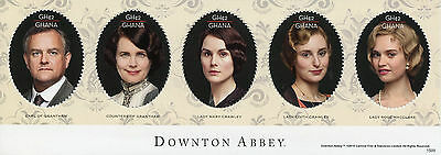 Ghana 2015 MNH Downton Abbey Earl Grantham Countess 5v M/S I TV Series Stamps