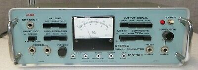 Sanwa Mx-124 Stereo Signal Generator Radio Testing Equipment Made In Japan