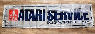 Vintage Atari Service Banner Sign -