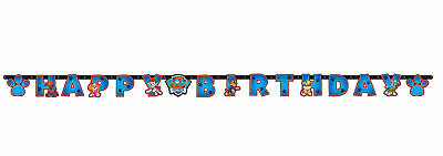 Paw Patrol Kinder Happy Birthday Banner Dekoration Welpe Party Wimpel