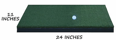 "11"" x 24"" Nylon Golf Mats Turf Chipping Driving Range Practice Mat Training Aid"