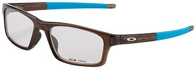 Oakley RX Eyeglasses OX8037-1754 Crosslink Pitch Polished Bark /Blue (Oakley Glasses Crosslink)