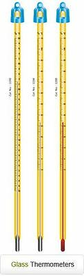 Glass Celsius Thermometer -10 To 250c Length 300mm Laboratory Glassware