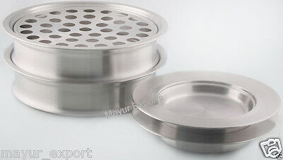 Stainless Steel 2 Communion Tray Set And 2 Bread Plate Trays