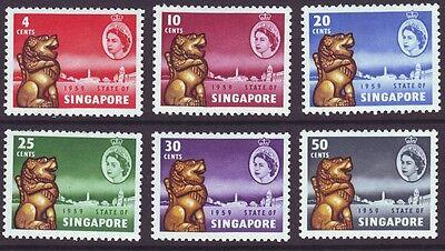 Singapore 1959 SC 43-48 MH Set New Constitution