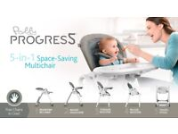 CHICO POLLY PROGRES 5 IN 1 HIGHCHAIR - NEWEST EDITION 2018!!!! was used just for 2 days!!!