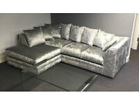 Crushed Velvet sofas corner unit or 3+2