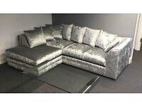 **Brand New** Julie Crush Corner Velvet Sofa/Settee