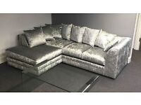 **STYLISH** JULIE CRUSH VELVET CORNER SOFA