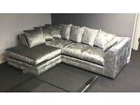 Julie crushed velvet corner sofa
