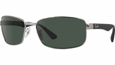 Ray Ban Sunglasses RB3478 004/58 Black Grey G15 Polarized Authentic Wrap 3478 Authentic Ray Ban Sunglasses