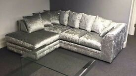 Dylan Crushed Velvet*Corner or 3+2**Available in 10 different Colors**Made In UK**