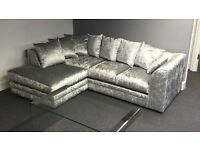 **Brand New** Julie Crush Corner Velvet Sofa/Settee