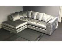 **DESIGNER** JULIE CRUSH VELVET CORNER SOFA
