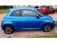 2015 FIAT 500 S, 1.2, Full Fiat History, Manufacturer Warranty, 13k miles, Metallic Blue, 1 owner
