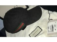Authentic Black Gucci Cap New Season With Dustbag,Tag, Bag