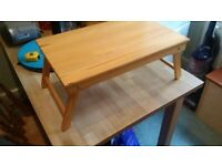 solid pine folding laptop stand or table