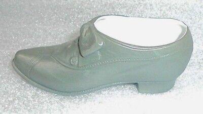 fine antique bisque china shoe match holder
