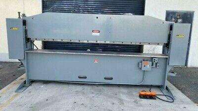 Chicago Model Sba-104 Hydraulic Press Brake 10 X 25 Ton 10ft Machine Runs Good