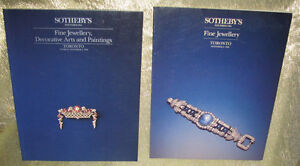 2 SOTHEBY AUCTION CATALOGUES, TOR., JEWELLERY DEC ARTS '89 '93