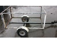 2 wheel Car Trailer with 2 rear drop support legs