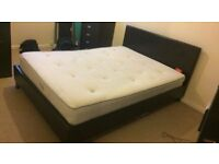 Double Faux Leather bed frame & Mattress