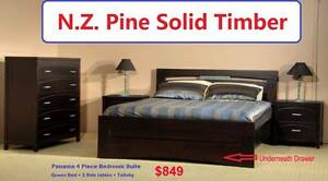 Panama 4 Piece, Solid Wood, N.Z. Pine, $849 Salisbury Brisbane South West Preview