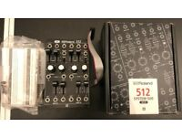 Roland Eurorack Synthesizer Modules and 2 x SYR-E84 cases
