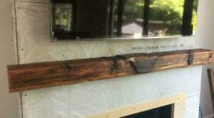 Custom Rustic Solid Wood Fireplace Mantels - Delivery