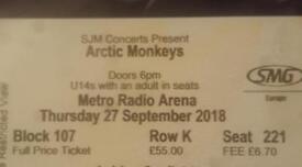 Arctic Monkeys Ticket- 27th September - Newcastle