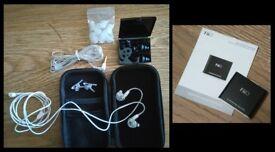 M6 Pro In-Ear Headphones & Fiio E5 Headphone Amplifier - For Sale
