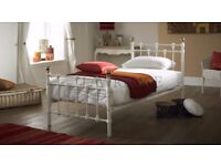 Vintage Style Metal Bed, it is white and very sweet for a child, girl or boy.
