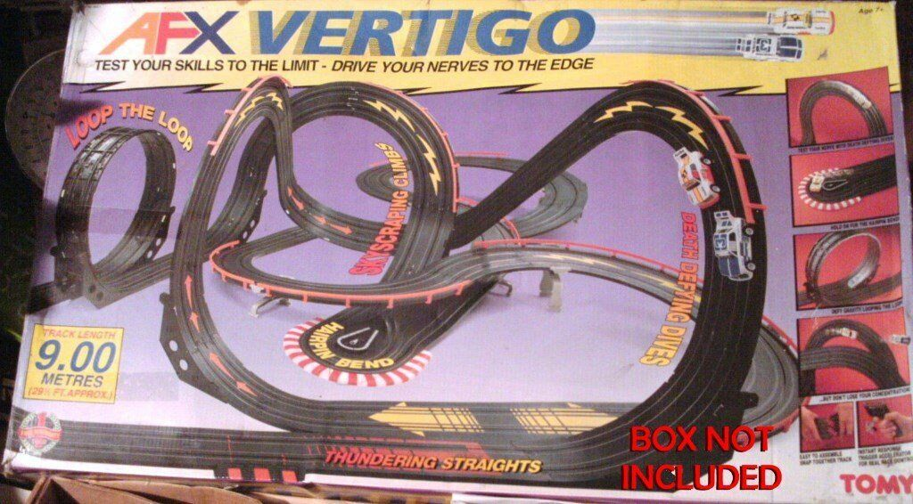 2x AFX Tomy Vertigo HO Slot Car Racing Sets - drives up walls !!! (no boxes) £35 ea / £60 for both