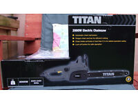 Titan electric chainsaw.