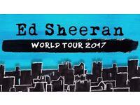 Ed Sheeran Tickets at The London O2 01/05/17 *LOW AVAILABILITY*